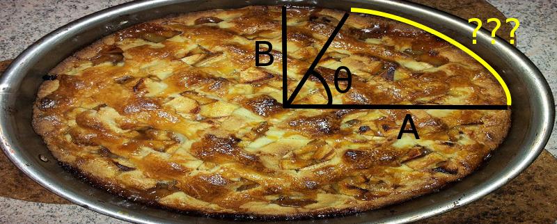 The elliptic pie arc length problem