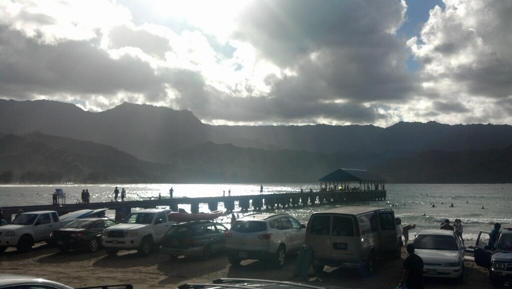 The pier at Hanalei Bay, Island of Kauai
