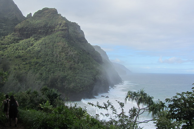 Northern sea cliffs of Kauai from the Na Pail Coast trail