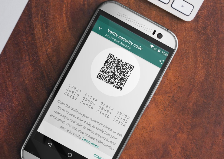 WhatsApp Verification Screen